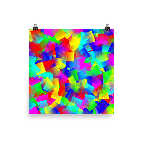 Bright Primary Matte Poster - Pattern and Print