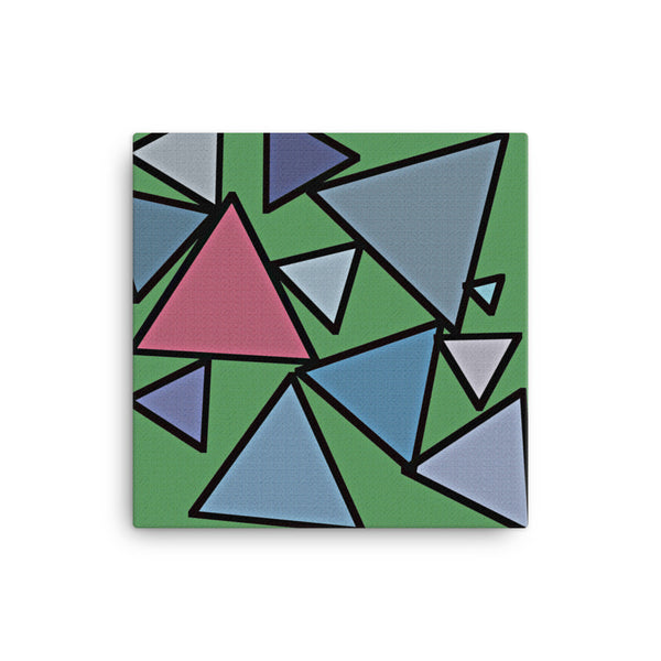 Triangles 16 x 16 Canvas Print