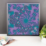Dark Purple Fractal Framed Photo Paper Poster - Pattern and Print