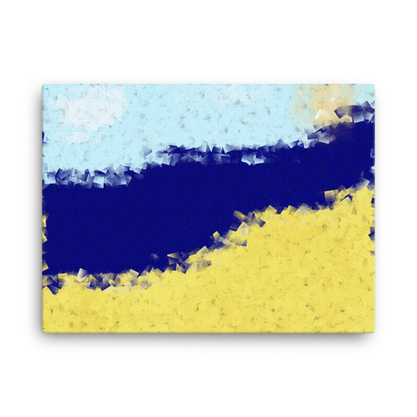 Beach 24 x 18 Canvas Print - Pattern and Print