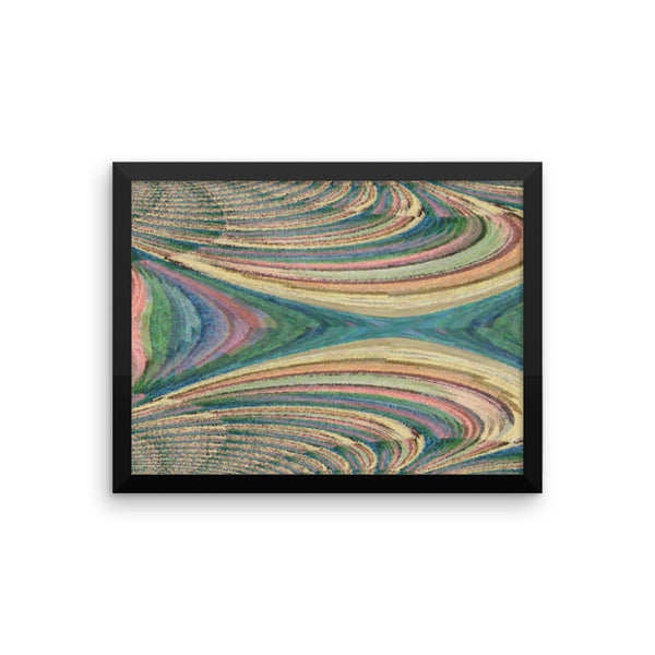 Yarn Framed Photo Paper Poster