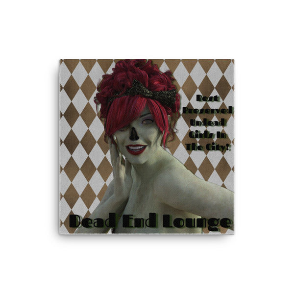 Dead End Lounge 12 x 12 Canvas - Pattern and Print