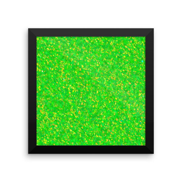 Painter - Green Framed Photo Paper Poster - Pattern and Print