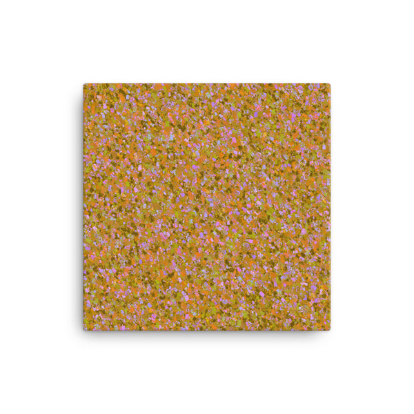 Painter - Orange 12 x 12 Canvas Print - Pattern and Print