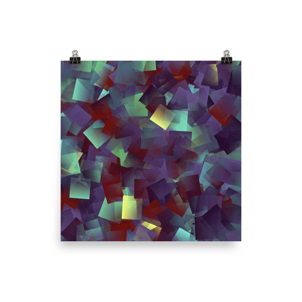 Square Jewels Matte Poster