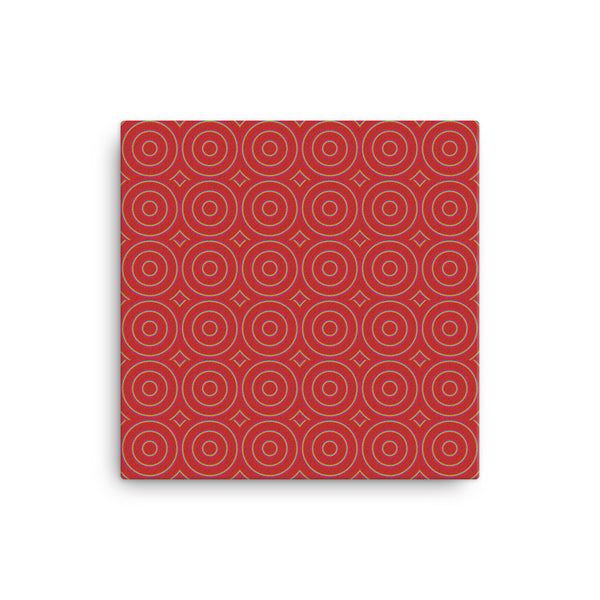 Circle Round 12 x 12 Canvas Print - Pattern and Print