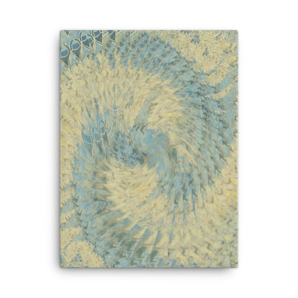 Blue Beige 18 x 24 Canvas Print - Pattern and Print