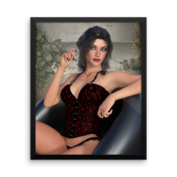 Pin Up 003 Framed Matte Poster