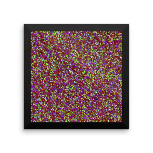 Painter - Deep Red Framed Photo Paper Poster - Pattern and Print