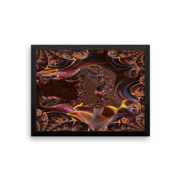 Christmas Lights Framed Photo Paper Poster - Pattern and Print