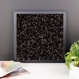 Black Licorice Framed Matte Poster - Pattern and Print
