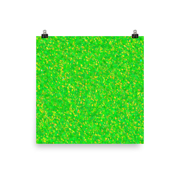 Painter - Green Matte Poster - Pattern and Print