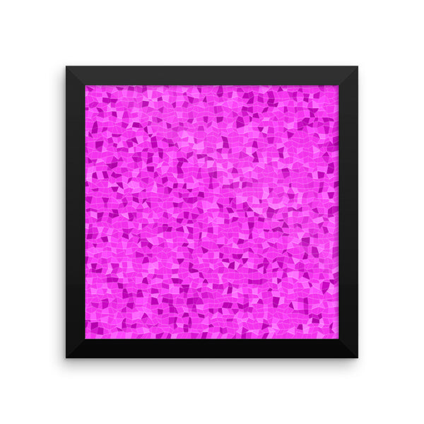 Bubblegum Framed Photo Paper Poster - Pattern and Print