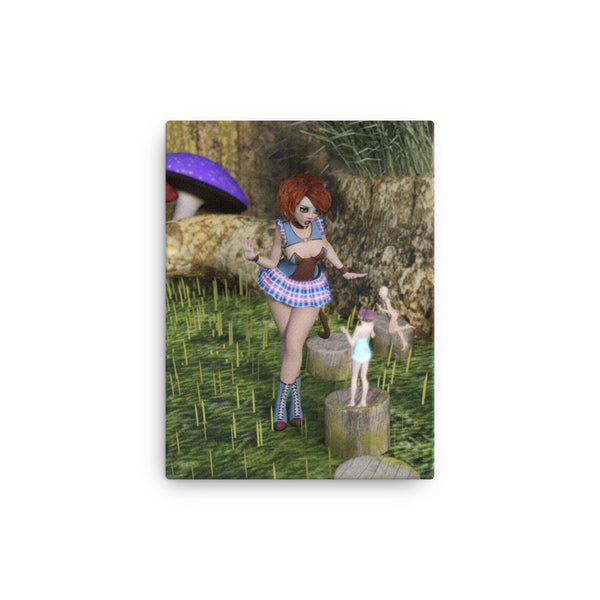 Fairy Encounter 12 x 16 Canvas Print