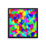 Bright Primary Framed Matte Poster - Pattern and Print