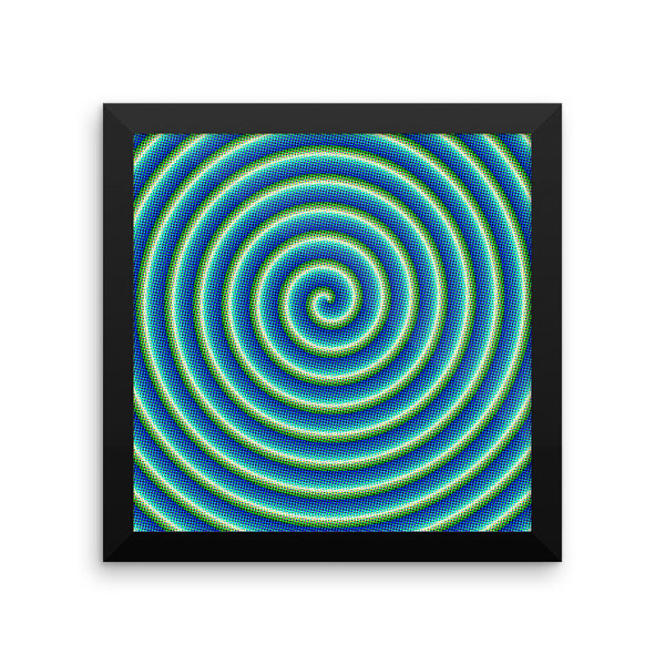 Comic Swirl Framed Matte Poster - Pattern and Print
