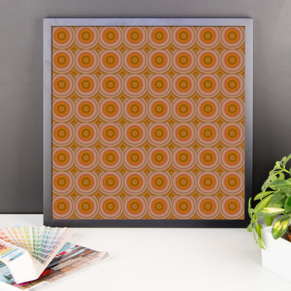 Autumn Dots Framed Matte Poster - Pattern and Print