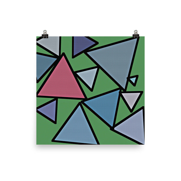 Triangles Photo Paper Posters