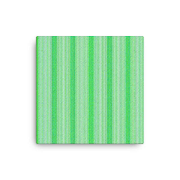 Green Stripes 16 x 16 Canvas Print