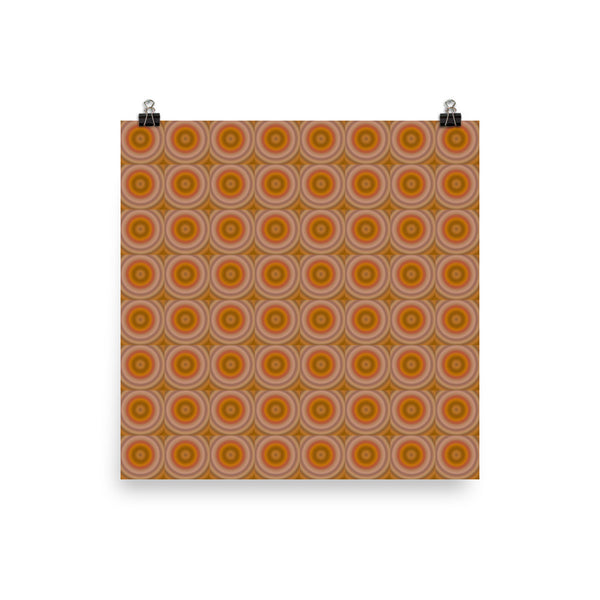 Autumn Dots Photo Paper Poster - Pattern and Print