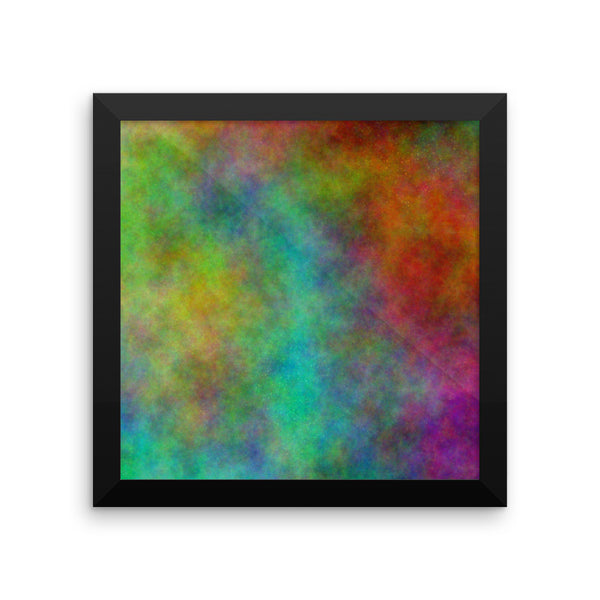 Colorful Space Framed Photo Paper Poster - Pattern and Print