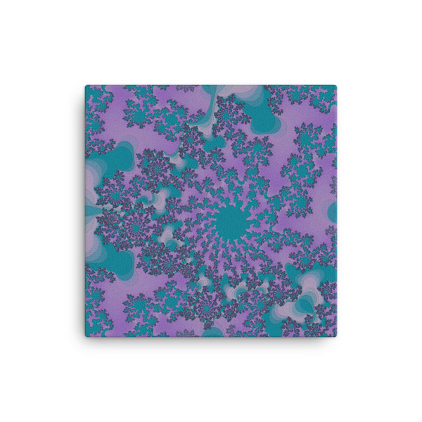 Dark Purple Fractal 16 x 16 Canvas Print - Pattern and Print