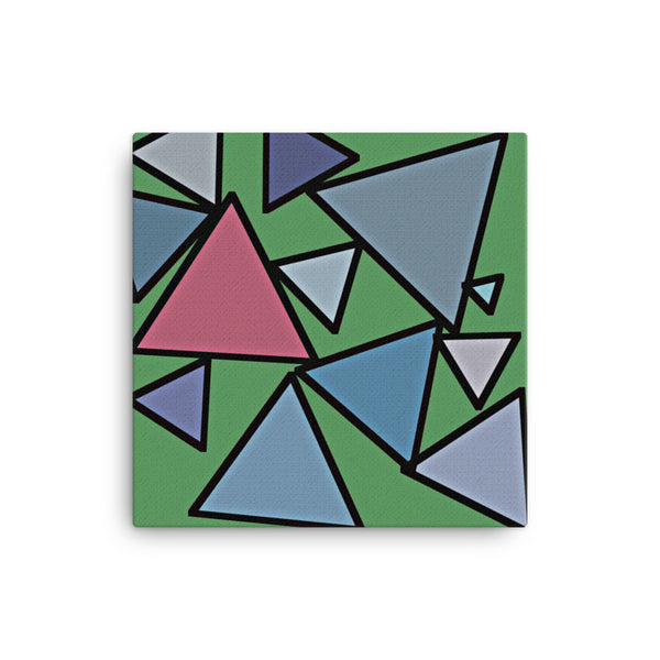 Triangles 12 x 12 Canvas Print