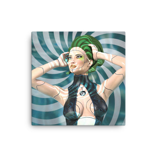 Artificial Beauty 16 x 16 Canvas Print - Pattern and Print