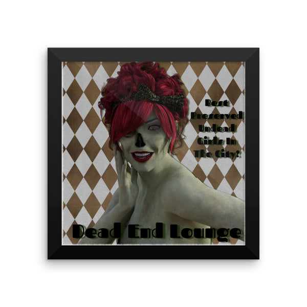 Dead End Lounge Framed Matte Poster - Pattern and Print