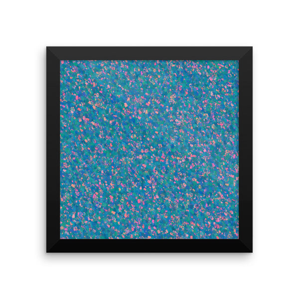 Painter - Blue Framed Matte Poster