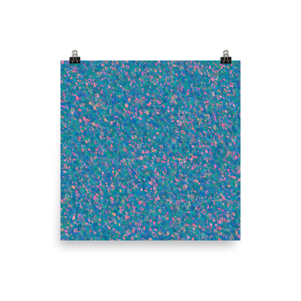 Painter - Blue Photo Paper Poster - Pattern and Print