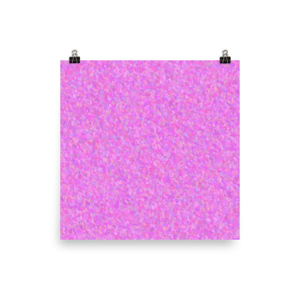Painter - Pink Matte Poster - Pattern and Print