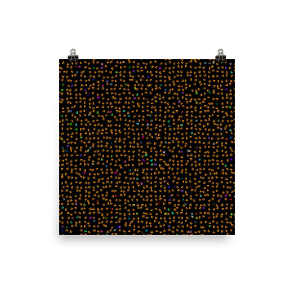 Orange Confetti Photo Paper Poster