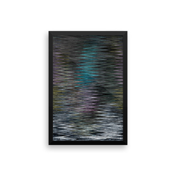 Zig or Zag Framed Photo Paper Poster