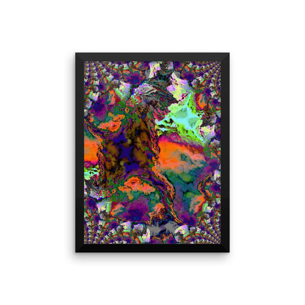 Bright Lights Framed Photo Paper Poster - Pattern and Print