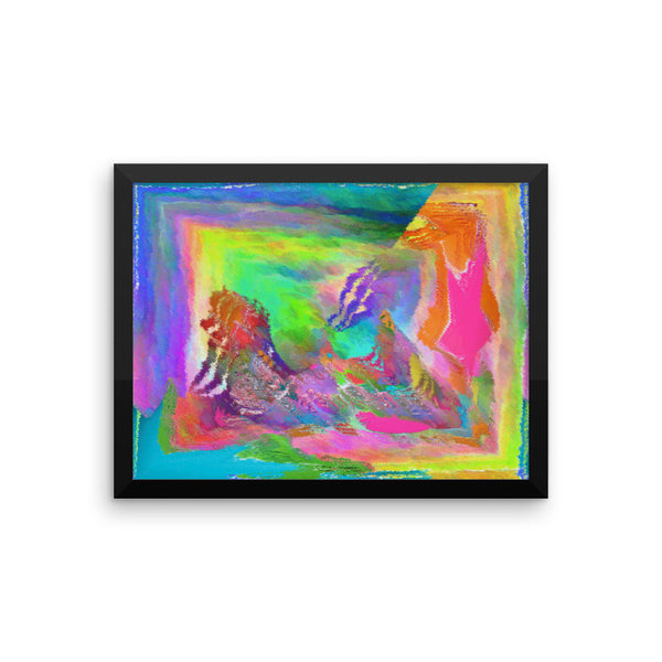 Paint Mix Framed Matte Poster