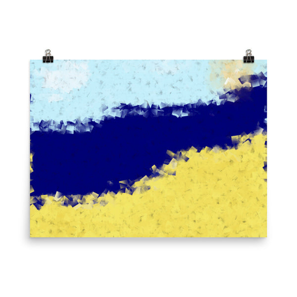 Beach Matte Poster - Pattern and Print