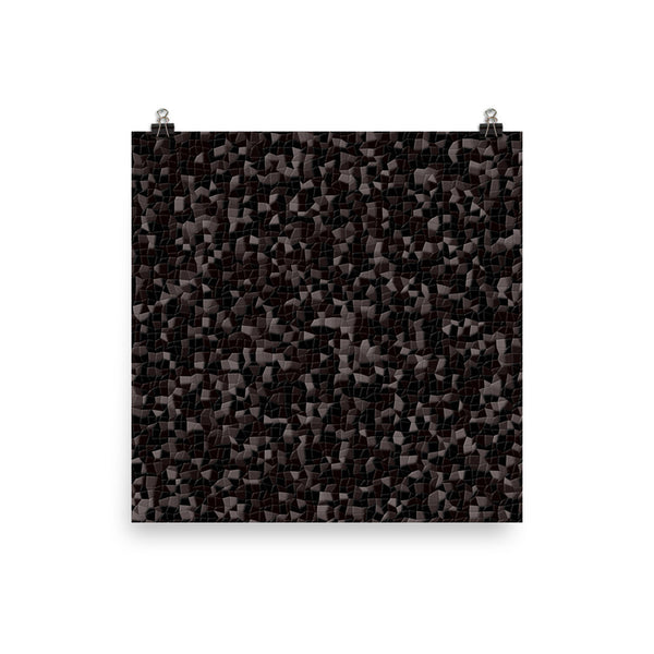 Black Licorice Matte Poster - Pattern and Print