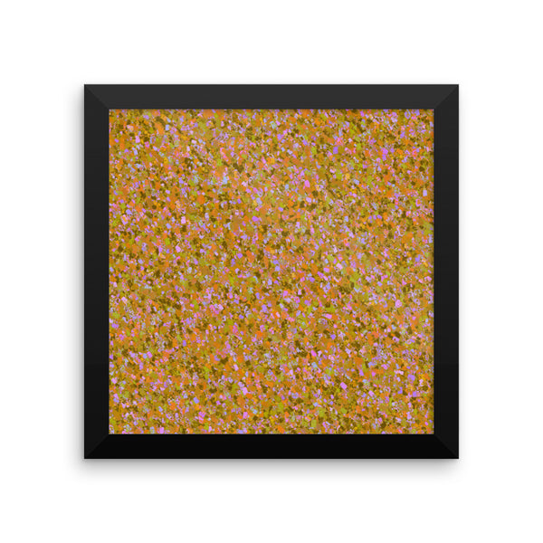 Painter - Orange Framed Matte Poster - Pattern and Print