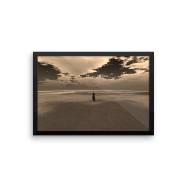 Desert Framed Matte Poster - Pattern and Print