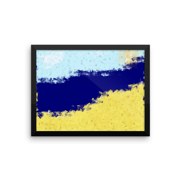 Beach Framed Matte Poster - Pattern and Print