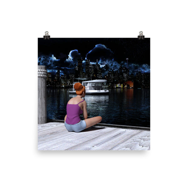 City Lights Photo Paper Poster - Pattern and Print