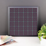 Jeweltone Grid Framed Photo Paper Poster