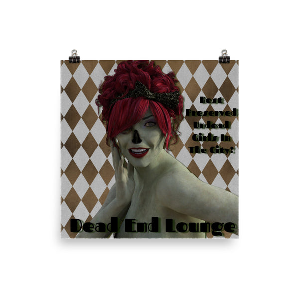 Dead End Lounge Matte Poster - Pattern and Print