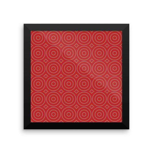 Circle Round Framed Matte Poster - Pattern and Print