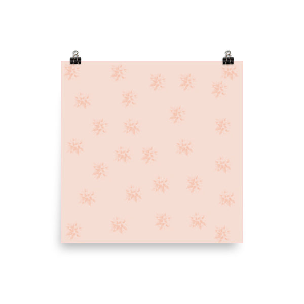 Peach Flowers Photo Paper Poster