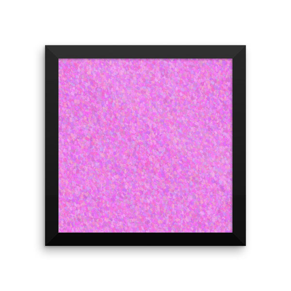 Painter - Pink Framed Matte Poster - Pattern and Print