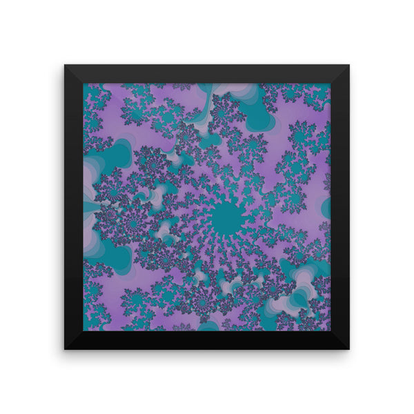 Dark Purple Fractal Framed Matte Poster - Pattern and Print