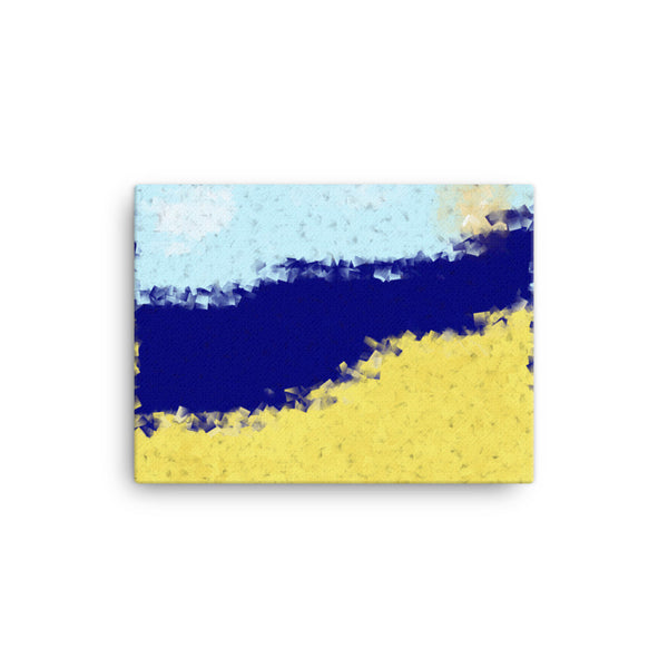 Beach 16 x 12 Canvas Print - Pattern and Print