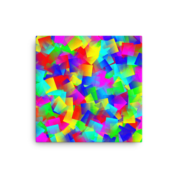 Bright Primary 16 x 16 Canvas Print - Pattern and Print